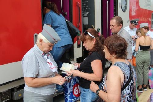 Rusland, controle treinkaartjes bij instappen