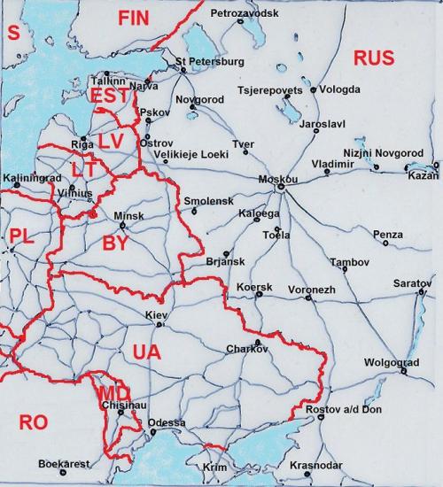 regiocentra in westelijk deel Rusland
