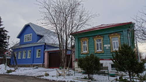 typische houten plattelandswoningen