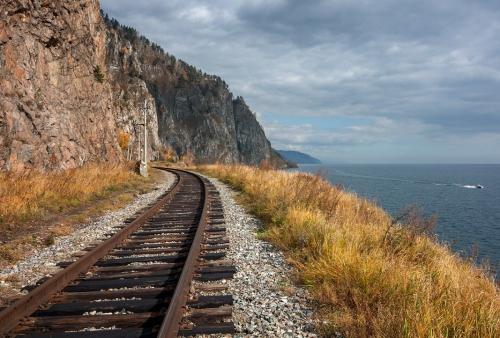 TransSib-tracé zuidzijde Baikal